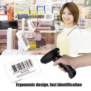 Bluetooth Barcode Scanner Wireless Usb Laser Automatic Bar Code Reader Black To