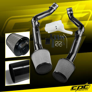 For 07 08 G35 4dr Mt 3 5l V6 Black Cold Air Intake Stainless Steel Air Filter