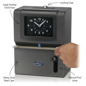 Time Clock Recorder Lathem 2121 Manual Day Of Week Hour Minutes