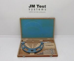 Fowler 52 401 221 Outside Micrometer 0 6 With Interchangeable Anvil Set Br