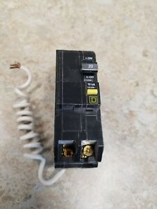 Square D Qob220gfi Qwik Gard Circuit Breaker 2 Pole 20 Amp Bolt On Ground Fault