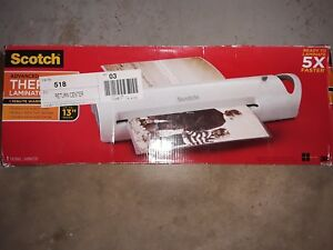 Scotch Laminator Laminating Machine Extra Wide 13 inch Fast Warm up 3 5 Mil 22b