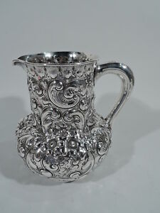 Theodore B Starr Water Pitcher 76 Antique American Sterling Silver