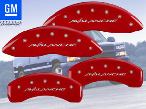 2002 2006 Chevy Avalanche 1500 Front Rear Red Mgp Brake Disc Caliper Covers