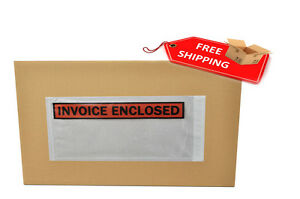 5000 5 5 X 10 Invoice Enclosed Packing List Slip Holders Envelopes Panel Face