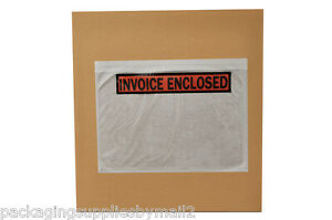 5000 7 X 5 5 Invoice Enclosed Packing List Slip Holders Envelopes Panel Face