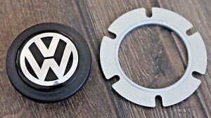 Vw Badge Emblem Horn Button Fits Momo Steering Wheel Mk1 Mk2 Mk3 Mk4 Golf Jetta