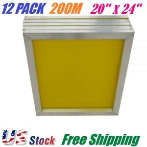 12 Pack Aluminum Frame Silk Screen Printing Screens 20 X 24 200 Mesh Count