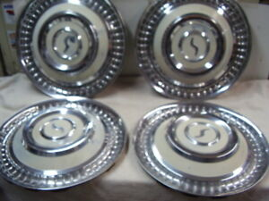 1963 Studebaker Lark Crusier Hubcap Set All 4 Look Nice On Other Years Too