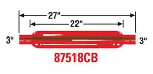 Cherry Bomb 87518cb Exhaust Muffler Glass Pack r Shape Round Inlet
