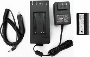 Battery Home Car Charger For Leica Total Station Laser Receivers Surveying