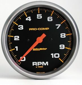 Autometer 5160 Pro comp Electric In dash Tachometer