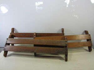 3 Antique Oak Church Pew Hymnal Holders For Projects