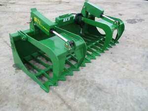 Mtl Rk5 60 John Deere Loader Rock root Grapple Bucket Twin Cylinder 169 Ship