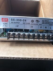Mean Well Se 350 24 Ac dc Power Supply Single out 24v 14 6a 350 4w Us Authorized