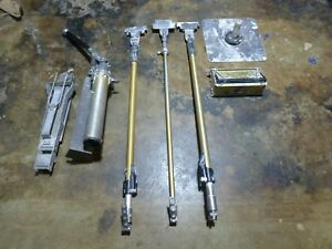 Tapetech Drywall Equipment Lot 10 Mud Finishing Box Pump Flat Handle X 2 More