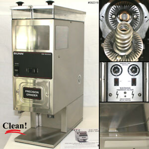 Bunn G9 2 Hd Stainless Portion Control Automatic Dual hopper 6 Lb Coffee Grinder