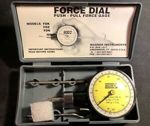 Wagner Instruments Fdk 2 32 oz Force Dial Push Pull Gage W Case Made In Italy