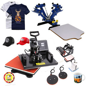 5in1 Heat Press Sublimation Machine Transfer Mug Cap Plate 4 Color 1 Station
