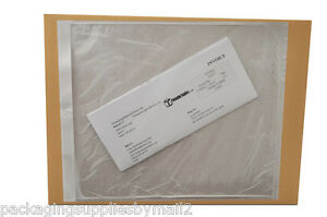 Clear Packing List Envelopes 10 X 12 Plain Face Back Side Load 4500 Pouches