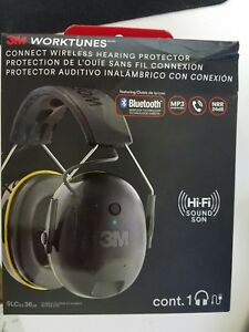 3m Worktunes 90543 4dc Connect Wireless Bluetooth Ear Muff Hearing Protector D2