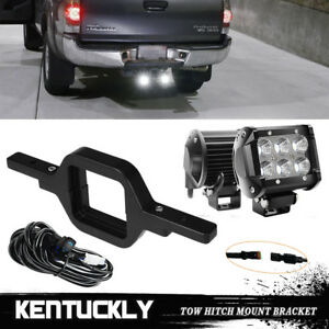 For Jeep Ford Suv Truck 18w Flood Lamp Backup Reverse Light tow Hitch Bracket