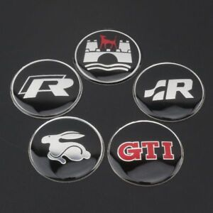 Steering Wheel Badge Logo Emblem 45mm For Vw Golf Gti R R32 Polo Mk5 Mk6 Mk7 Aut