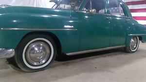1951 Plymouth Cranbrook Wheel And Tire Set White Walls