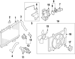 Genuine Nissan Thermostat Housing 11061 1fd0a