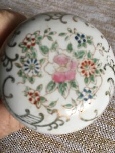 Antique Porcelain Floral Rose Victorian Door Handle
