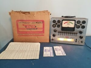 vtg Eico 625 Vacuum Tube Tester W Original Box Brooklyn Ny Rare