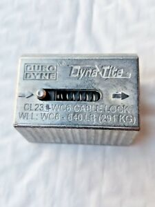 Qty 10 Duro Dyne Cl23 wc6 Dyna tite 1 8 3 16 Cable Lock 640 Lb Max Load