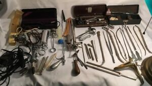 Vintage Surgical Medical Instruments Welch Allyn Gynecology Speculum Syringes