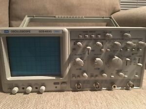 Gw Gos 653g 50mhz Two Channel Oscilloscope Perfect With Probes And Manual