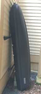 4 Crossroads Railing Rack Bars With Thule Mountaineer Rooftop Cargo Box