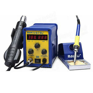 Bk 878l2 700w 220v 2 In 1 Rework Station Soldering Iron And Hot Air Tool Led
