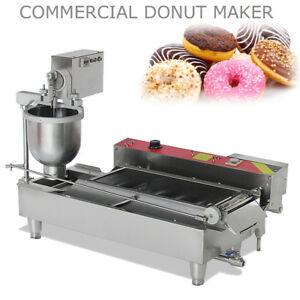 1100pcs h Electric Automatic Donut Maker Doughnut Machine Stainless Steel Fryer