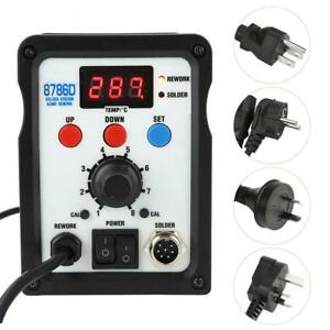 8786d 2 In 1 Smd Rework Station With Hot Air Gun Soldering Iron Us uk au eu