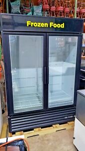 True Gdm 49f Two Door Glass Freezer Commercial Freezer