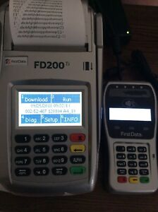 First Data Fd200ti Credit Card Terminal With New Fd 35 Pin Pad