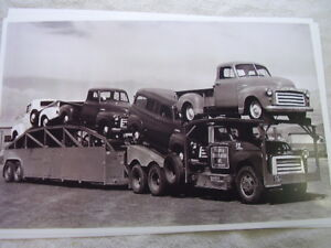 1949 1950 Gmc Pickups On Car Carrier 11 X 17 Photo Picture