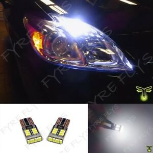 2 White Led Parking Light Bulbs For Toyota Prius Super Bright 6000k Error Free