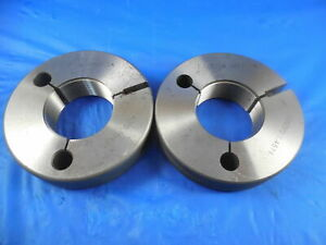 1 1 2 18 Unef 2a Thread Ring Gages 1 5 Go No Go Pd s 1 4624 1 4574 Tool