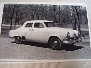 1952 Studebaker Champion 4dr 11 X 17 Photo Picture