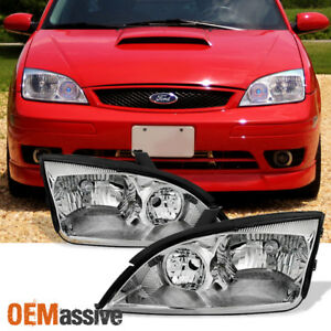 Fit 2005 2006 2007 Ford Focus Left Right Side Headlights Head Lamps Assembly