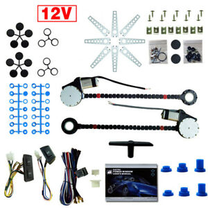Uk Ship Fit 2 Doors Vehicle Electric Power Window Kit Motors Switches Universal