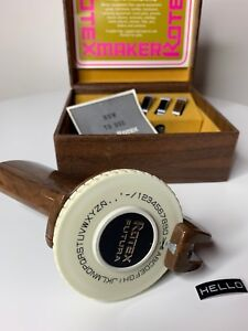 Rotex Futura Label Maker Vintage With Box And Tape Embossing Vintage Retro