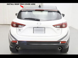 For 14 18 Mazda 3 Hatch 5dr Roof Fin Diffuser Vortex Unpainted Matte Black Pp
