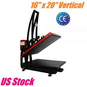 16 x 20 Heat Press Machine Vertical Clamshell T shirt Heat Transfer Sublimation