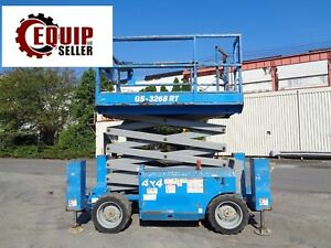 2011 Genie Gs3268rt 4x4 Rough Terrain Man Aerial Boom Scissor Lift 32 Ft Height